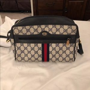 Vintage Gucci Ophidia Bag Blue and Red GG